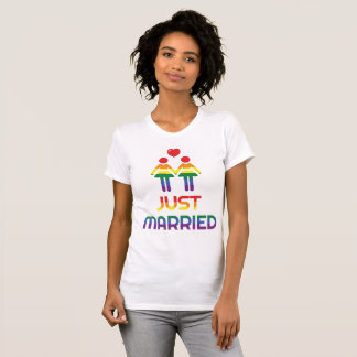 Regenbogen-homosexuelle Heirat-T - Shirts für die