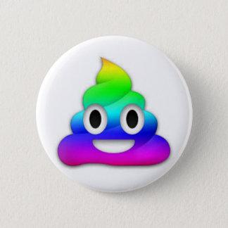 Regenbogen kacken Emoji Knopf Runder Button 5,7 Cm