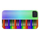Regenbogen-Klavier-Tastatur iPhone 4 Hüllen