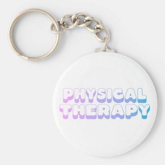 Regenbogen-körperliche Therapie Standard Runder Schlüsselanhänger