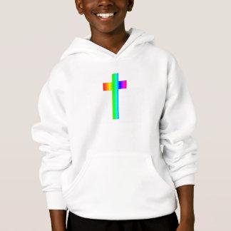 Regenbogen-Kreuz Hoodie