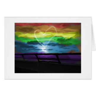 Regenbogen-Kreuzfahrt-Liebe Karte