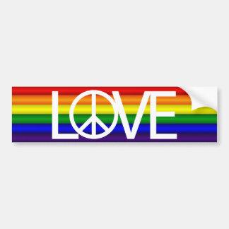Regenbogen-Liebe-Friedenszeichen Autoaufkleber