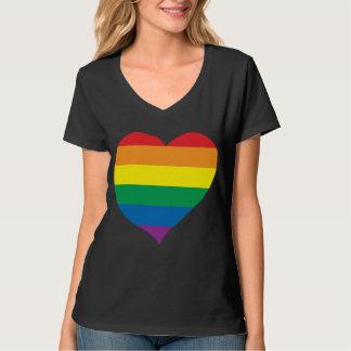 Regenbogen-Liebe-Herz, Gay Pride, Liebe-Gewinne T-Shirt