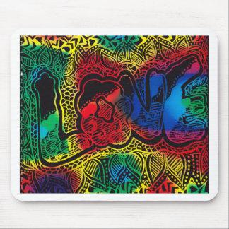 Regenbogen-Liebe Mauspads