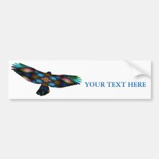 Regenbogen-Mandala-Kaleidoskop-Falke im Flug Autoaufkleber