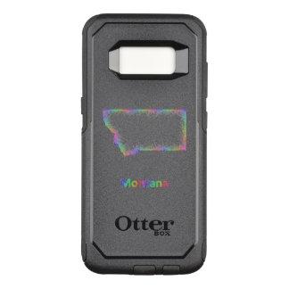 Regenbogen-Montana-Karte OtterBox Commuter Samsung Galaxy S8 Hülle