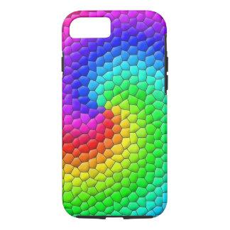 Regenbogen-Mosaik iPhone 7 Hülle