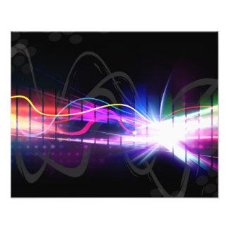 Regenbogen-musikalische Wellen-Form Kunstphoto