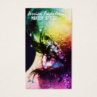 Regenbogen mustert Maskenbildner Visitenkarte