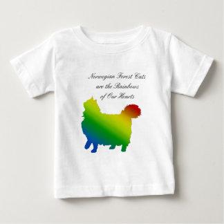 Regenbogen-norwegische Waldkatze Baby T-shirt