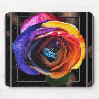 Regenbogen-Ozean-Blume Mousepad