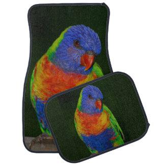 Regenbogen-Papageien-Set von 4 Auto-Matten Autofußmatte