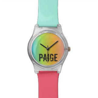 Regenbogen-personalisierte Uhr