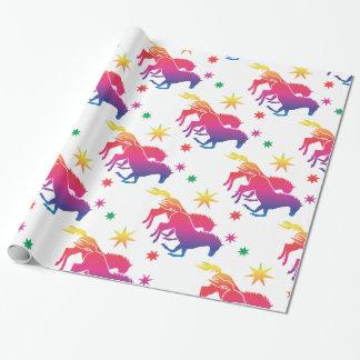 Regenbogen Pferde Geschenkpapierrolle