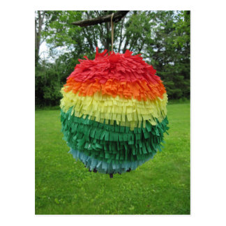 Regenbogen Piñata Postkarte
