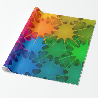Regenbogen platsch! geschenkpapier