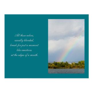 Regenbogen-Poesie-Leseschablonen-Karte Postkarte