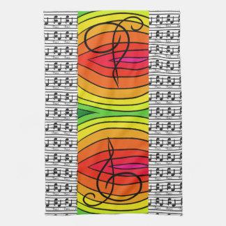 Regenbogen-Pop-Kunst-Designer-musikalischer Küchentuch
