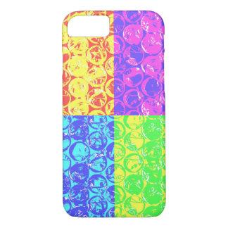 Regenbogen-Popkunst-Blasenverpackung iPhone 7 Hülle
