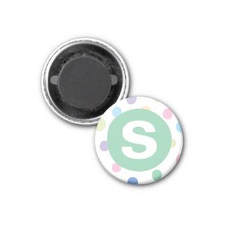 Regenbogen punktiert die Kunst-Magneten der grüne Runder Magnet 2,5 Cm