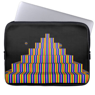 REGENBOGEN-PYRAMIDE Neopren-Laptop-Hülse 13 Zoll Laptopschutzhülle