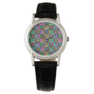 Regenbogen quadriert Mode-Uhr durch Julie Everhart Uhr