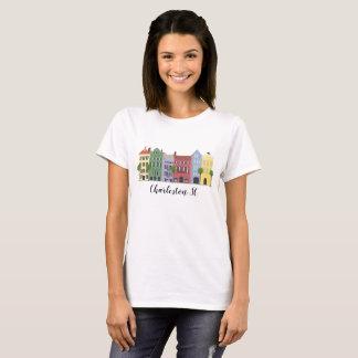 Regenbogen-Reihen-Charleston Sc-T-Shirt T-Shirt