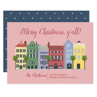 Regenbogen-Reihen-Charleston Sc-Weihnachtskarte Karte