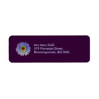 Regenbogen-Ringelblumen-kundenspezifische Rücksendeetikett