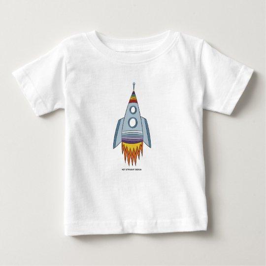Regenbogen Rocket des Baby-Stolz-  Baby T-shirt