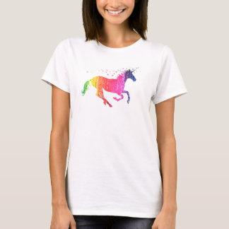 Regenbogen-Rosa-Einhorn T-Shirt