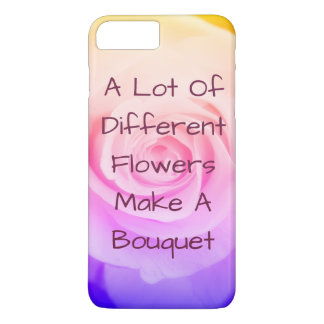 Regenbogen-Rose Iphone 7 Fall iPhone 8 Plus/7 Plus Hülle