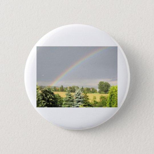 Regenbogen Runder Button 5,7 Cm