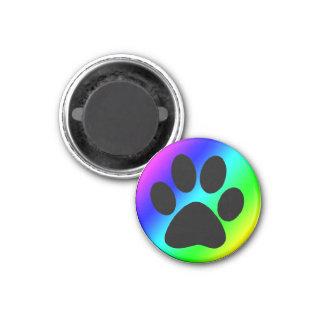 Regenbogen-runder Hund Paw.png Runder Magnet 2,5 Cm