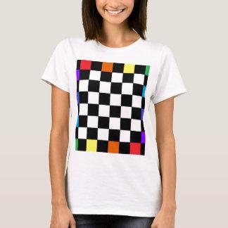 Regenbogen-Schachbrett CricketDiane T-Shirt