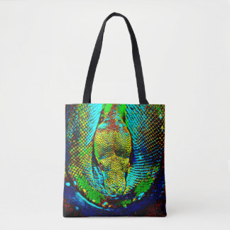 Regenbogen-Schlange Tasche
