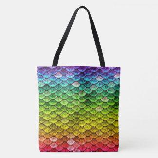 Regenbogen-Schlangenskalen Tasche