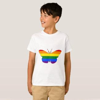 Regenbogen-Schmetterling T-Shirt