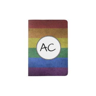 Regenbogen-Schmutz-Flagge Passhülle