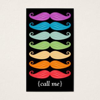 Regenbogen-Schnurrbart-Vertikale Bizcard Visitenkarte