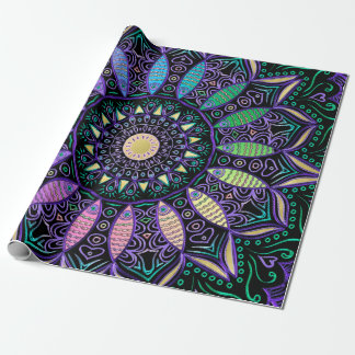 Regenbogen-Skala-Mandalas Einpackpapier