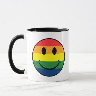 Regenbogen-smiley Tasse