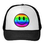 Regenbogen-smiley V1 Retrokultmütze