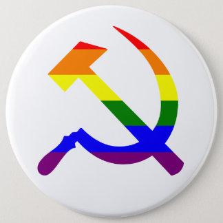 Regenbogen-Sowjet-Hammer und Sichel Runder Button 15,3 Cm