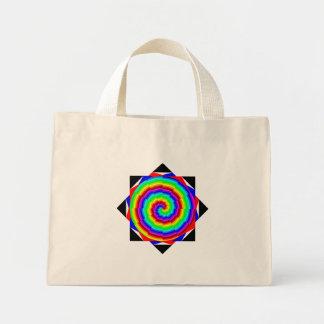 Regenbogen-Spirale durch Kenneth Yoncich Mini Stoffbeutel