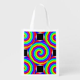 Regenbogen-Spirale durch Kenneth Yoncich Wiederverwendbare Einkaufstasche