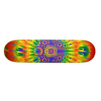 Regenbogen-Spirale/Fraktal Design: Kundenspezifisc Personalisiertes Skateboard