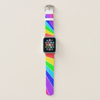 Regenbogen-Strahlen Apple Watch Armband