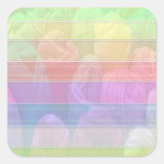 Regenbogen-Stränge Abzieh Schreiben-AUF Quadratischer Aufkleber